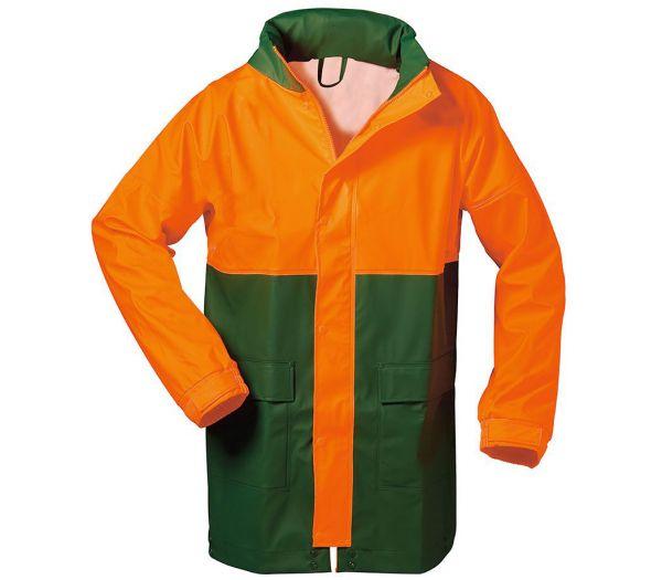 Forstregenjacke grün/orange