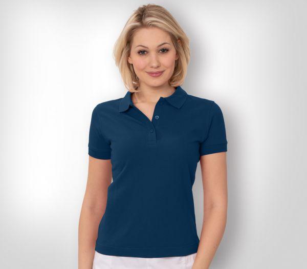 Damen Polo-Shirt Mischgewebe marine
