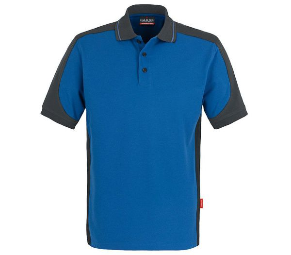 Hakro Poloshirt Performance Contrast kornblau/anthrazit