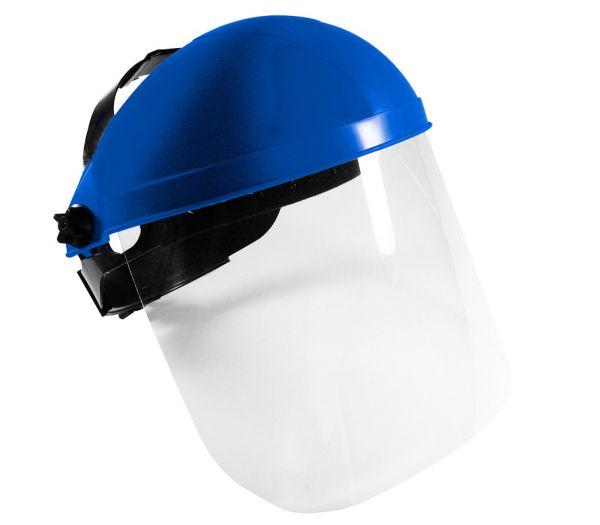 Gesichtsschutzschirm blau