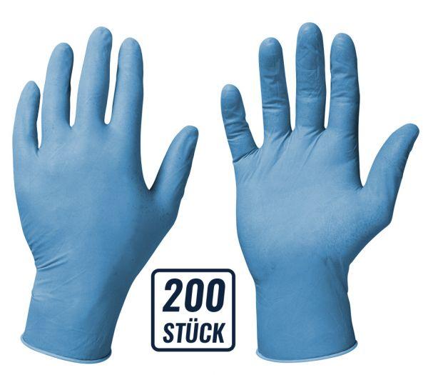 Einmalhandschuhe Nitril 200er Box blau