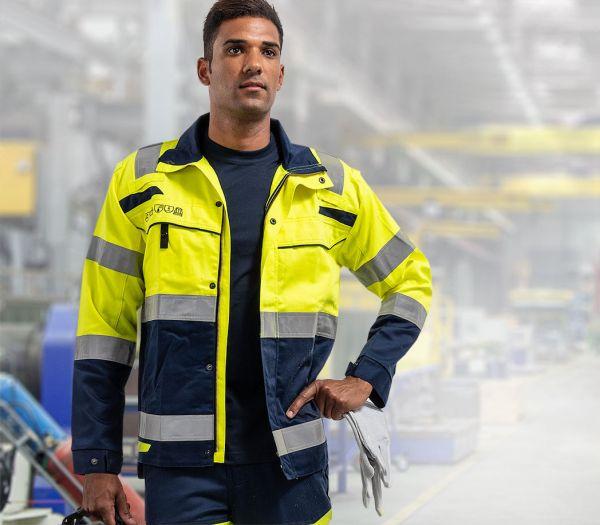 Multinorm Warnschutz-Arbeitsjacke warngelb/marine