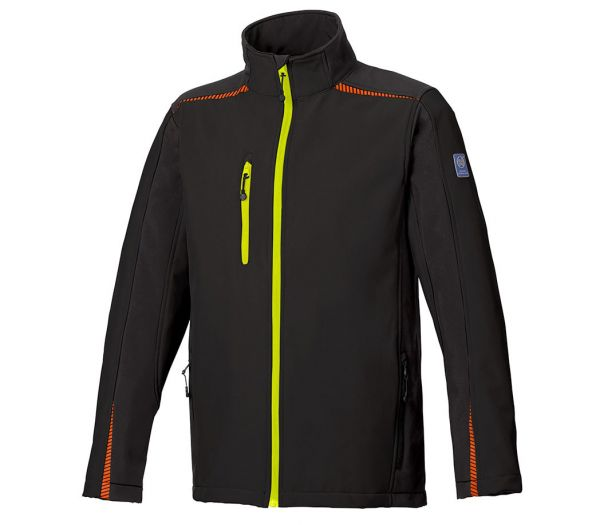 Softshelljacke BS ONE schwarz/orange/gelb