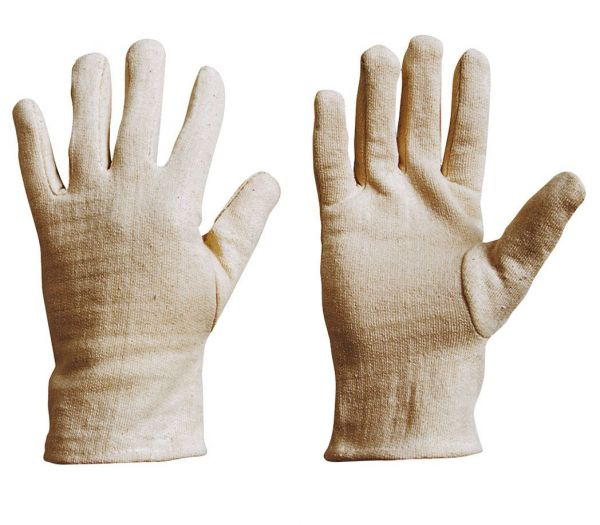 Baumwollhandschuhe Grobstrick Jersey