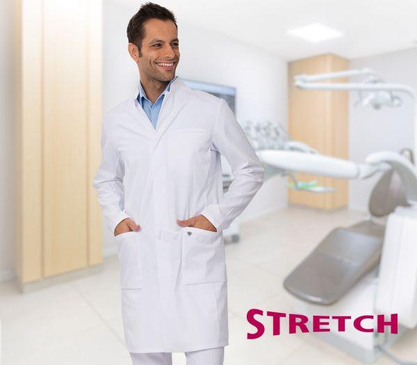 Herren Arztkittel STRETCH weiß