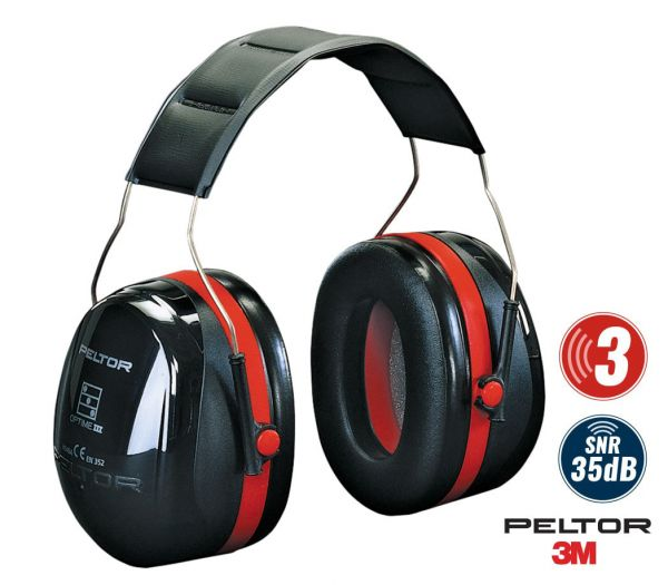 3M Peltor Kapselgehörschutz Optime III schwarz