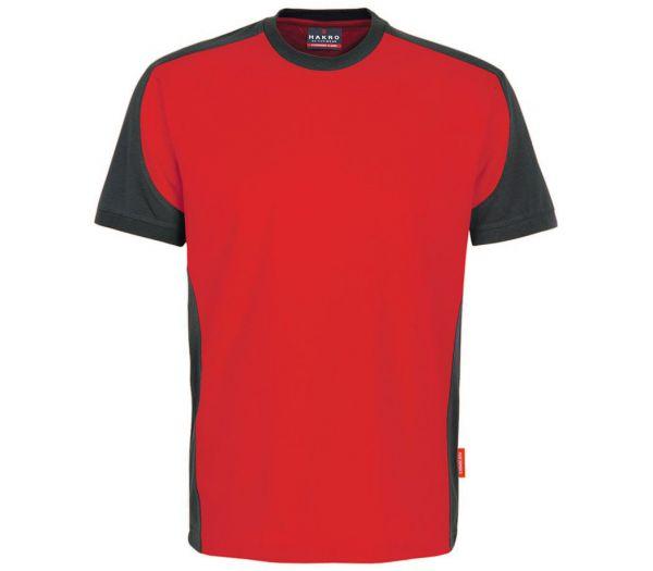 Hakro T-Shirt Performance Contrast rot/anthrazit
