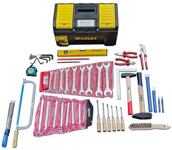 """Werkzeug-Set """"Schlosser"""" in Stanley-Box, 52-teilig"""