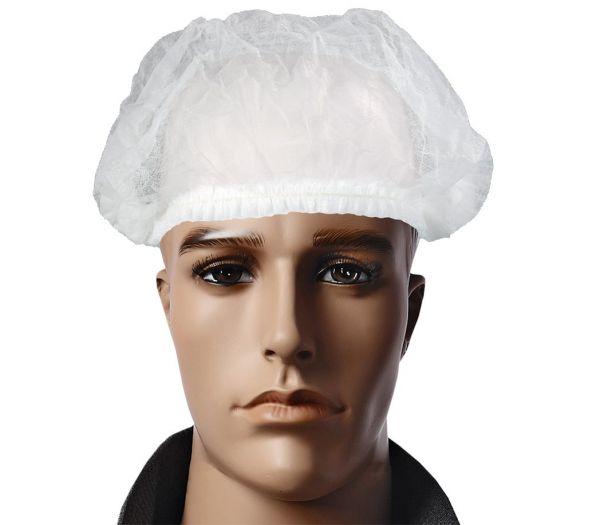 Kopfhaube Polypropylen, Pack mit 200 Stück weiß