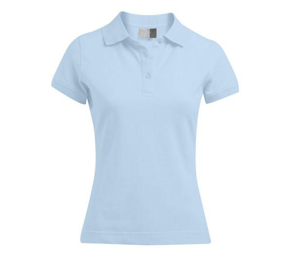 Damen Polo-Shirt STRETCH hellblau