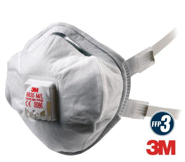 3M Atemschutzmaske mit Ventil FFP3 weiß