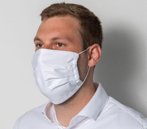 Mund-Nasen-Maske waschbar weiß