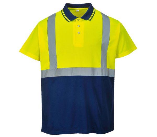 Warnschutz-Poloshirt Image warngelb/marine