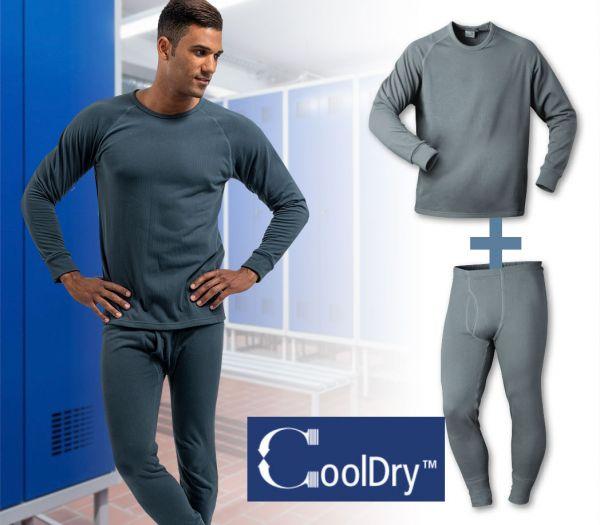 Funktionsunterwäsche-Set CoolDry grau