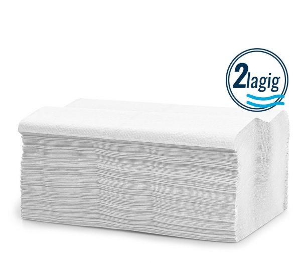 Papierhandtücher 2-lagig, 3200 Blatt weiß