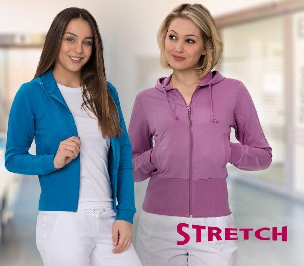 Damen Kapuzen-Sweatjacke STRETCH flieder