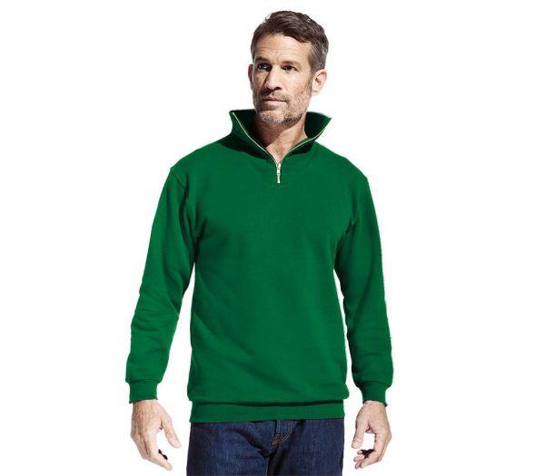 Sweatshirt mit Reißverschluss grün